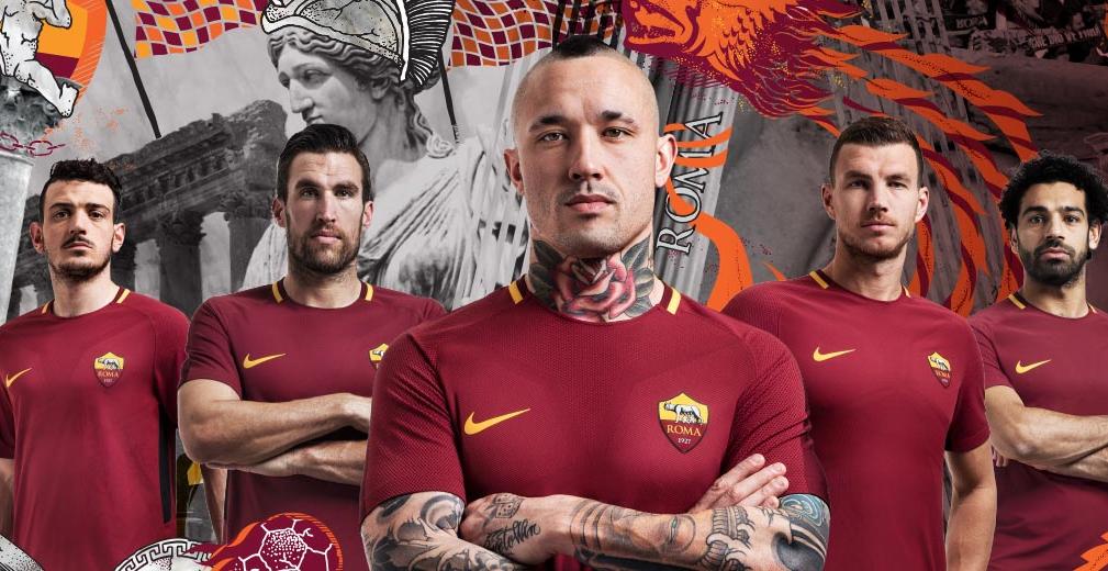 AS Roma thuisshirt 2017-2018 - Voetbalshirts.com