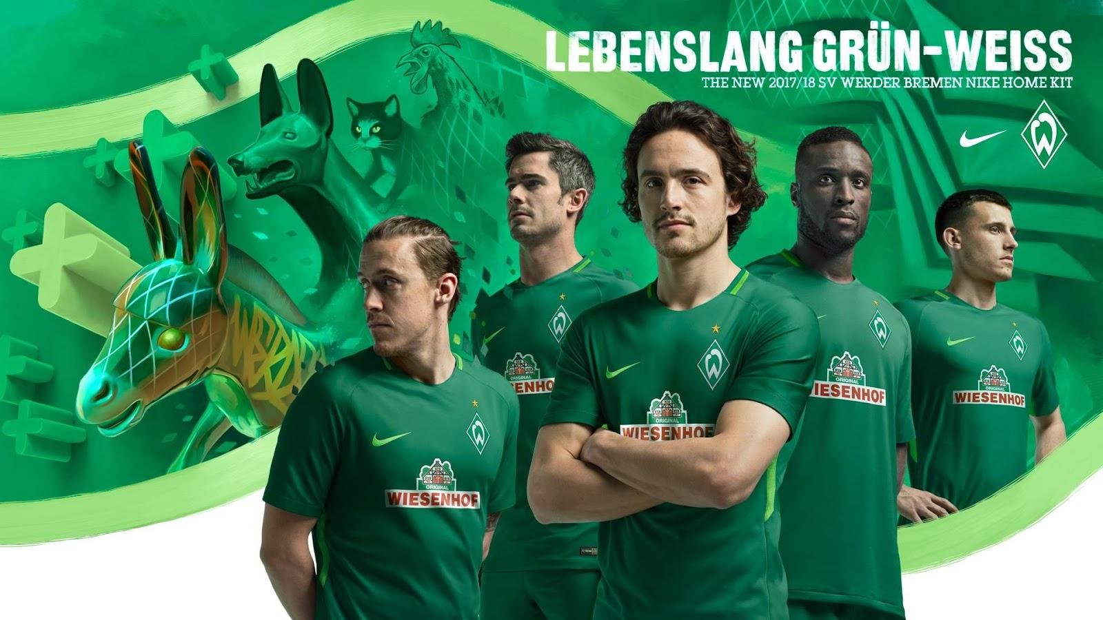 Werder Bremen Voetbalshirts 2017 2018 Voetbalshirtscom