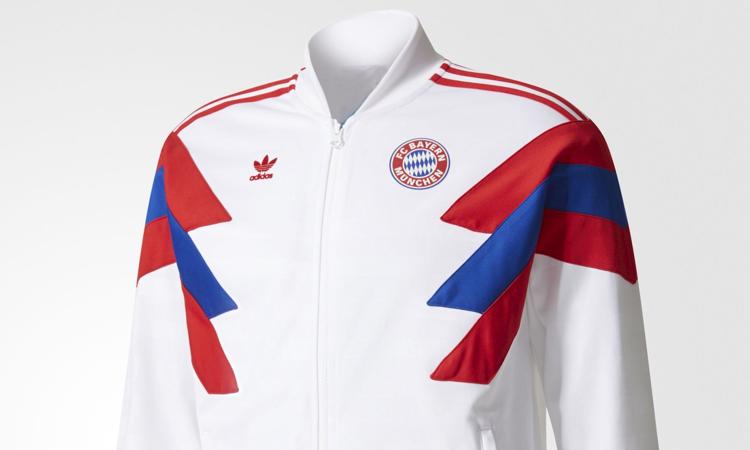 dc23efbd9bb Bayern München adidas Originals jaren '80 retro trainingsjack en  voetbalshirt
