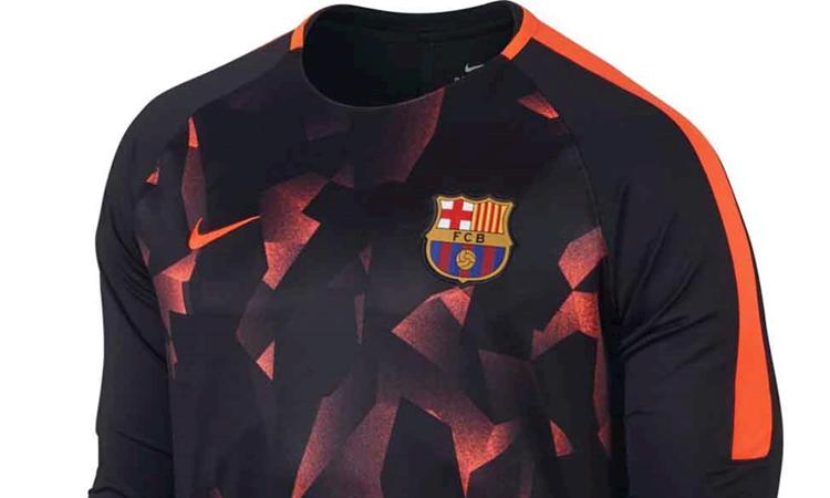Wonderlijk Barcelona camouflage trainingspak 2017-2018 - Voetbalshirts.com RT-21