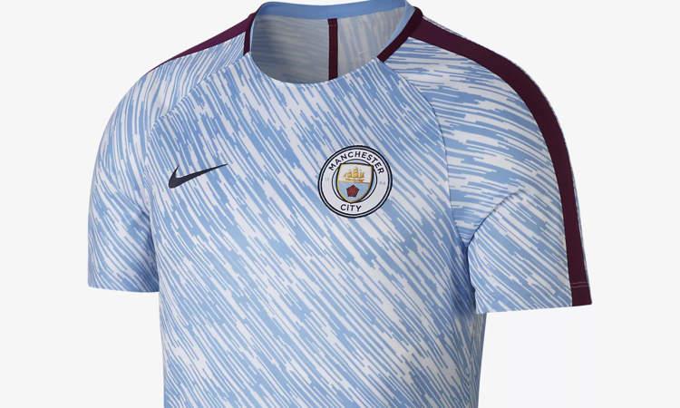 official photos 05f13 221ff Manchester City trainingsshirt en warming-up shirt ...