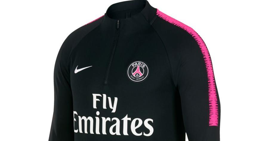 Paris Saint Germain draagt zwart/roze trainingspak ...