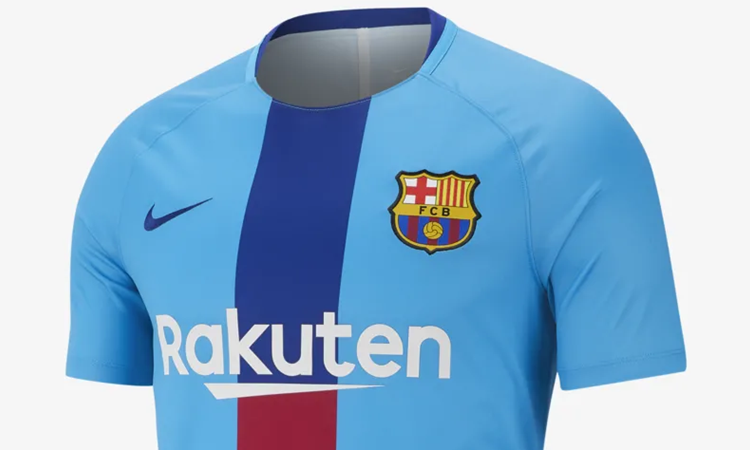 detailed look 28ba8 7ee44 Nike lanceert nieuw Barcelona warming-up shirt voo ...