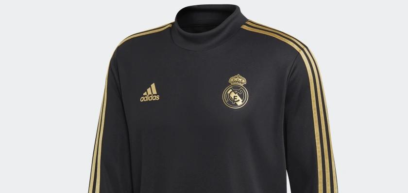 Real Madrid draagt zwartgoud trainingspak in 2019