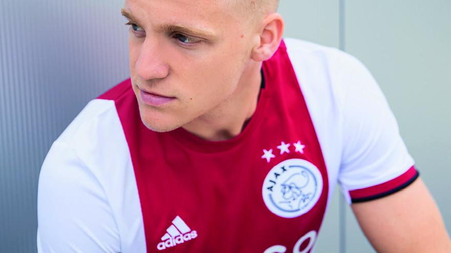 Officiële bedrukking Ajax thuisshirt 2019 2020