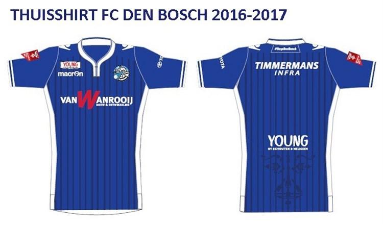 FC Den Bosch thuisshirt 2016-2017 - Voetbalshirts.com